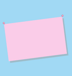 Pink pastel paper on blue background for text vector