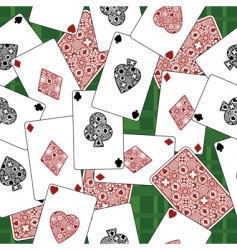Playing card pattern vector