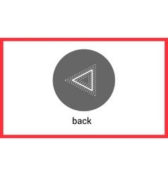 Previous button contour outline vector image