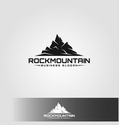 Rock mountain - sport and adventure logo vector