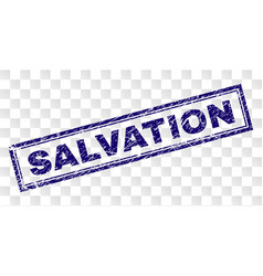 Scratched salvation rectangle stamp vector