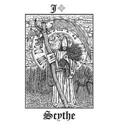 scytarot card from lenormand gothic vector image