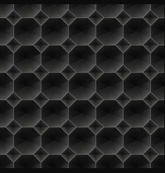seamless black diamond 3d pattern vector image