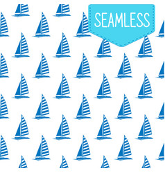 seamless pattern of blue vector image