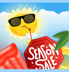summer sale concept summer travel banner concept vector image