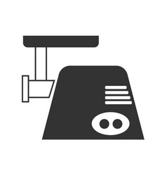 The gray meat grinder icon vector