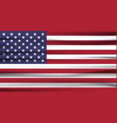 united states flag usa flag american symbolunited vector image