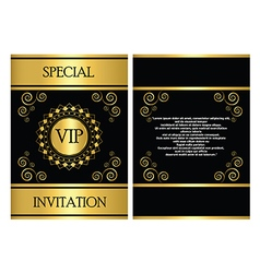 VIP Invitation Card Template vector