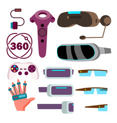 virtual reality glasses cyberspace vector image