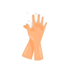 Washing hands between fingers prevention of vector