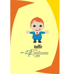 With welcome and people vector