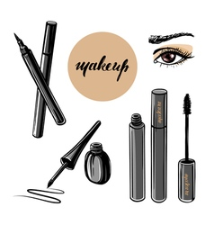 Woman eye and makeup vector