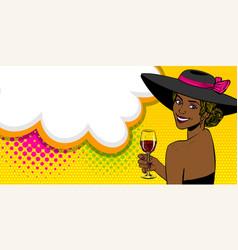 Woman pop art speech bubble text advertise vector