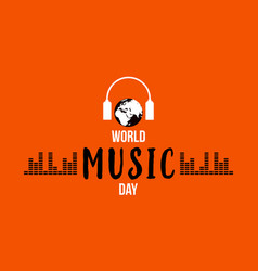 world music day celebration flat vector image