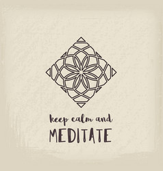 yoga studio poster vector image