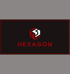 Ys hexagon logo design inspiration vector
