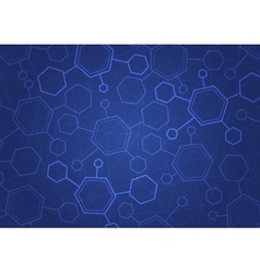 Abstract molecules medical background vector image