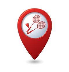 badminton RED pointer vector image vector image