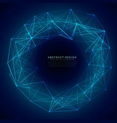 blue digital futuristic technology mesh background vector image vector image