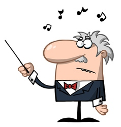 Orchestra Conductor Holds Baton vector image vector image