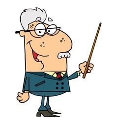 Senior Professor Man vector image