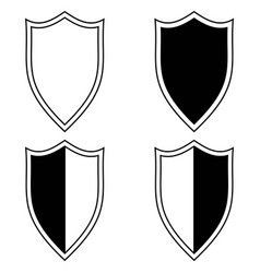 set the shield icon vector image
