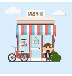 stylish barber character vector image