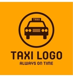 Taxi yellow logo icon style trend car sign vector image