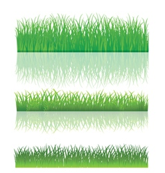 The Green Grass Set vector image
