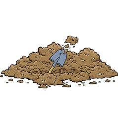 digging pits vector image