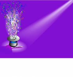 magic hat with light vector image vector image