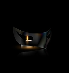 Mask and small candle vector