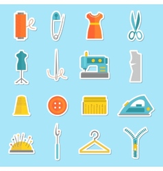 Sewing equipment stickers vector image vector image