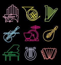symbols musical instruments vector image vector image