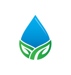waterdrop leaf nature logo image vector image