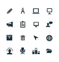 Art design icons set vector