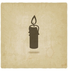 candle old background vector image vector image