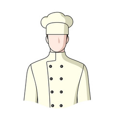 chefprofessions single icon in cartoon style vector image