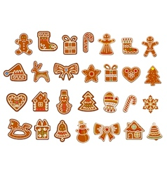 Christmas figure cookies collection vector image