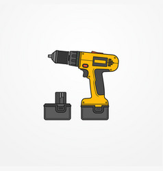 electric cordless screwdriver image vector image