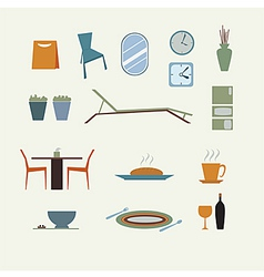 furniture for home decorate vector image