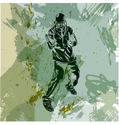 graffiti artist grunge trend handcrafted splash vector image