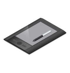 Graphic tablet detailed isometric icon vector image vector image