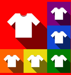 t-shirt sign set of icons vector image