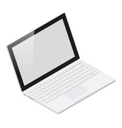 Laptop realistic isometric icon vector image vector image