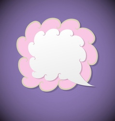 Retro speech bubble on violet background vector image