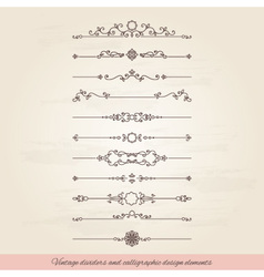Vintage dividers set vector