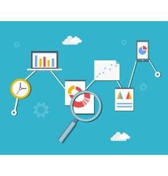 Web statistics and analytics vector image vector image