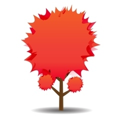 A stylized drawing of a red maple Autumn vector image vector image
