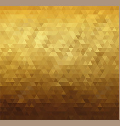 Abstract golden triangle pattern background vector